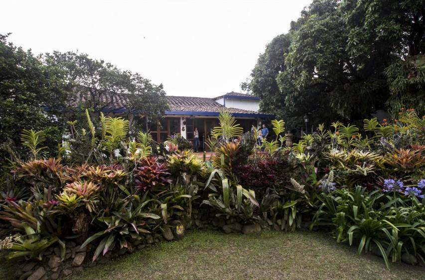 Jardín donde pasaba su tiempo libre. FOTO: JAIME PÉREZ