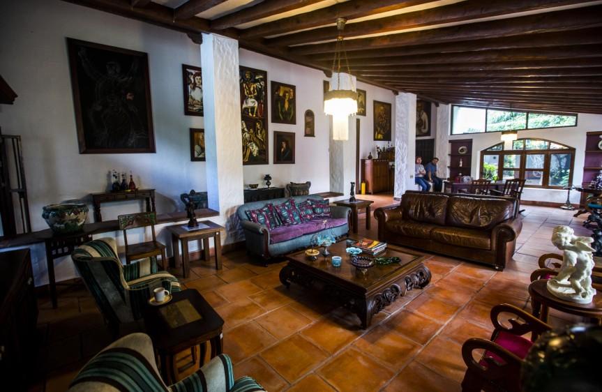 Sala principal de la casa. FOTO: JAIME PÉREZ
