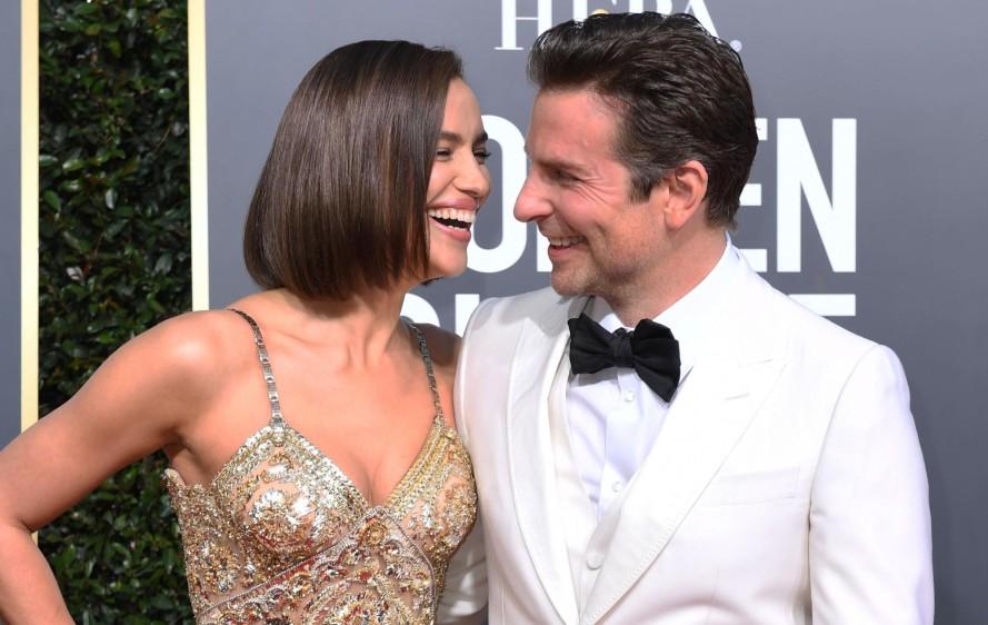 La pareja del momento Irina Shayk y Bradley Cooper. FOTO AFP