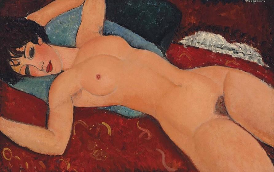 Desnudo acostado, de Amedeo Modigliani, es un óleo sobre lienzo de 60 x 62 centímetros, vendido por 158 millones de euros en Christie's, Nueva York, en noviembre de 2015. Es una obra hecha entre 1917 y 1918.