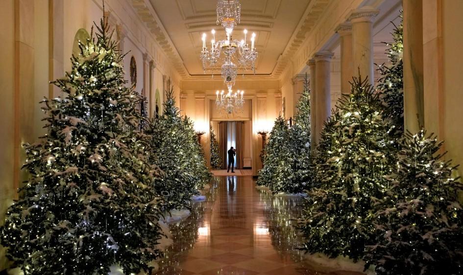 La primera ornamentación temática de la Casa Blanca fue escogida por Jacqueline Kennedy en 1961. Desde entonces es una tradición. FOTO REUTERS