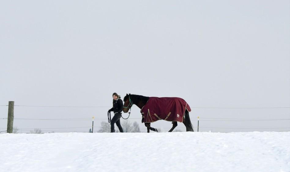 En el nordeste del país, donde se sitúa Maribor, la temperaturas siguen estando por debajo de los 20 grados bajo cero. País: Alemania. FOTO AFP