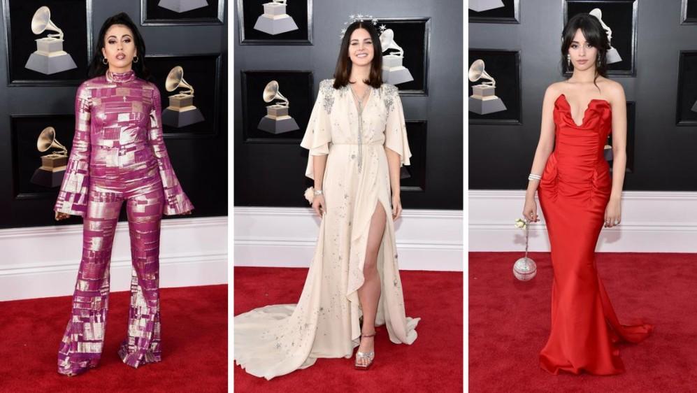 Kali Uchis, Lana del Rey y Camila Cabello. ¿A cuál le fue mejor? Las apuestas son por Camila Cabello. FOTOS AFP
