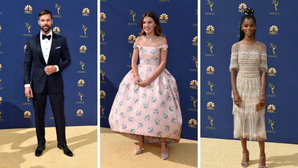 Ricky Martin, Letitia Wright y Millie Bobby Brown. FOTOS AFP
