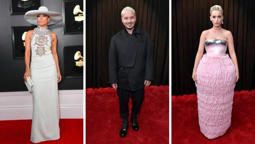 Jennifer López, J Balvin y Katy Perry. FOTOS AFP