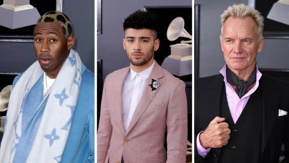 Tres visiones masculinas diferentes, ¿Cuál prefieres?: Tyler, Zayn Malik o Sting. Las apuestas dan a Sting como ganador. FOTOS EFE, Reuters y