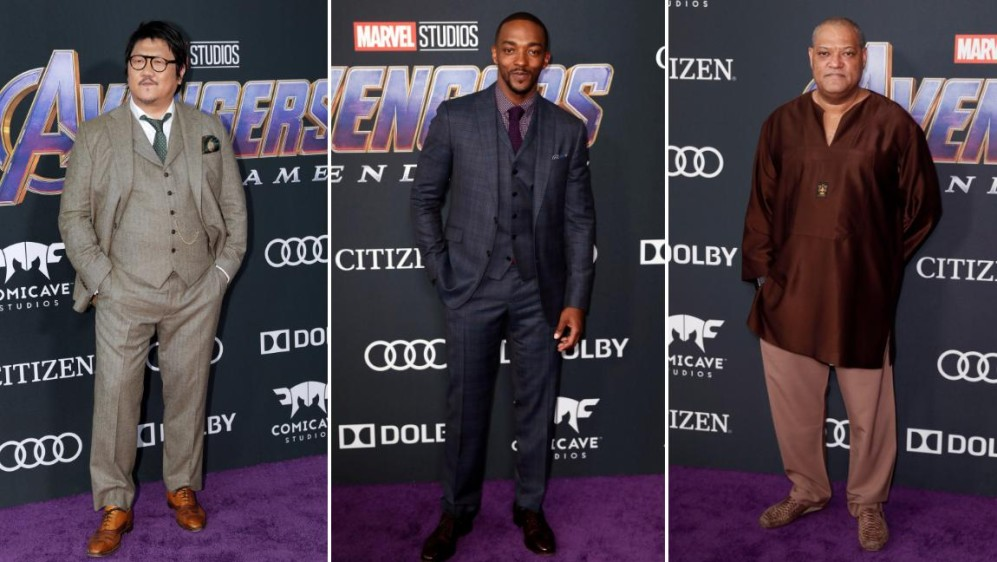 Benedict Wong, Anthony Mackie y Laurence Fishburne. FOTOS Reuters y Efe