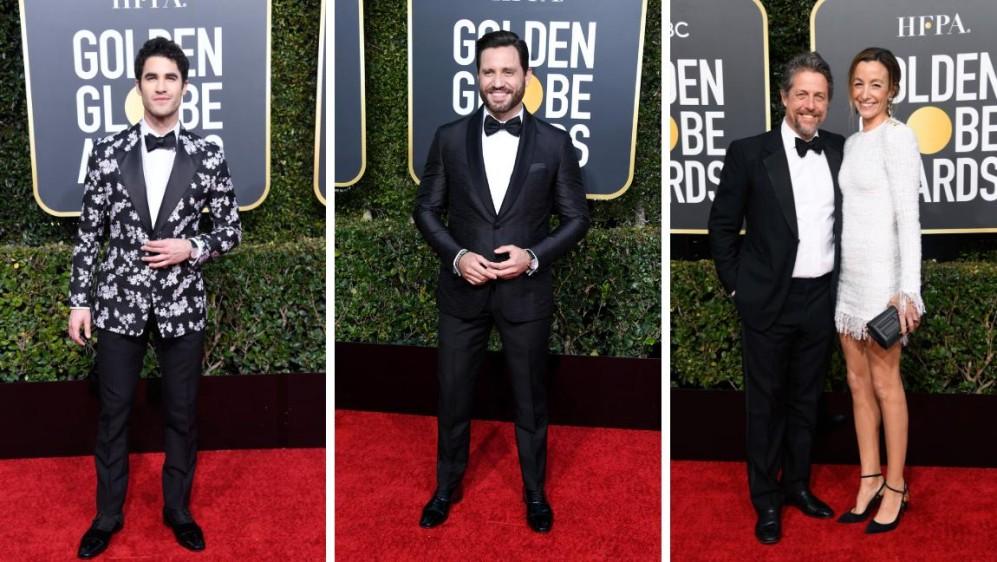 Darren Chris y Edgar Ramírez de American Crime Story, Hugh Grant nominado por la serie A very english scandal. FOTOS AFP