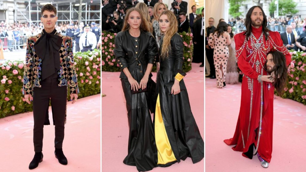 Darren Chris, las hermanas Olsen y Jared Leto. FOTOS AFP