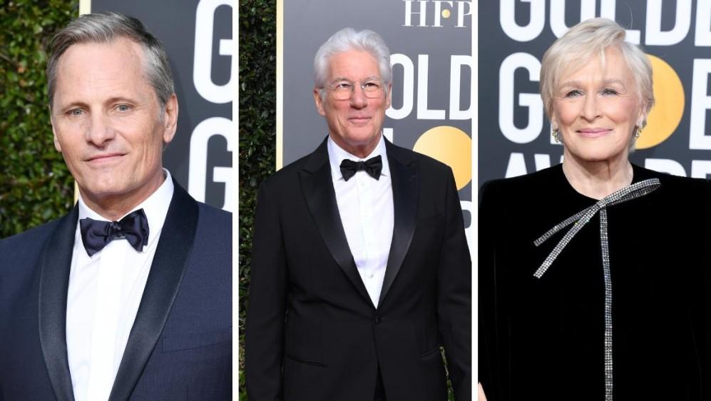 Grandes de la actuación, Viggo Mortensen, Richard Gere y Glenn Close. FOTOS AFP