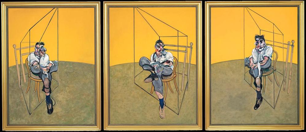 Tres estudios de Lucian Freud, de Francis Bacon. Es un tríptico subastado en 105 millones de euros en Christie's, Nueva York, el 12 de noviembre de 2013. Es un óleo realizado en 1969. Lucian Freud fue un pintor y grabador británico del siglo XX, destacado en el arte figurativo.