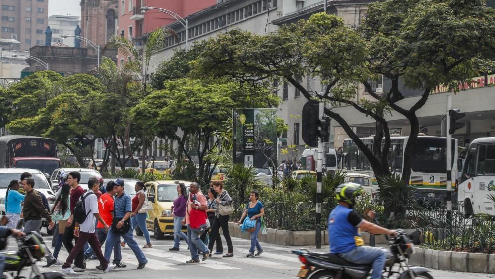 Avenida oriental frente a la policía metropolitana de Medellín. Foto: Robinson Sáenz Vargas
