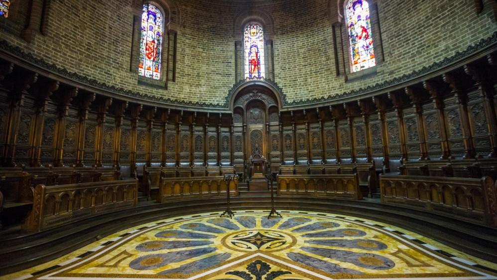 El piso del Altar Mayor y del Coro de los Canónigos también guardan su relación con la identidad colombiana. FOTO JULIO CÉSAR HERRERA