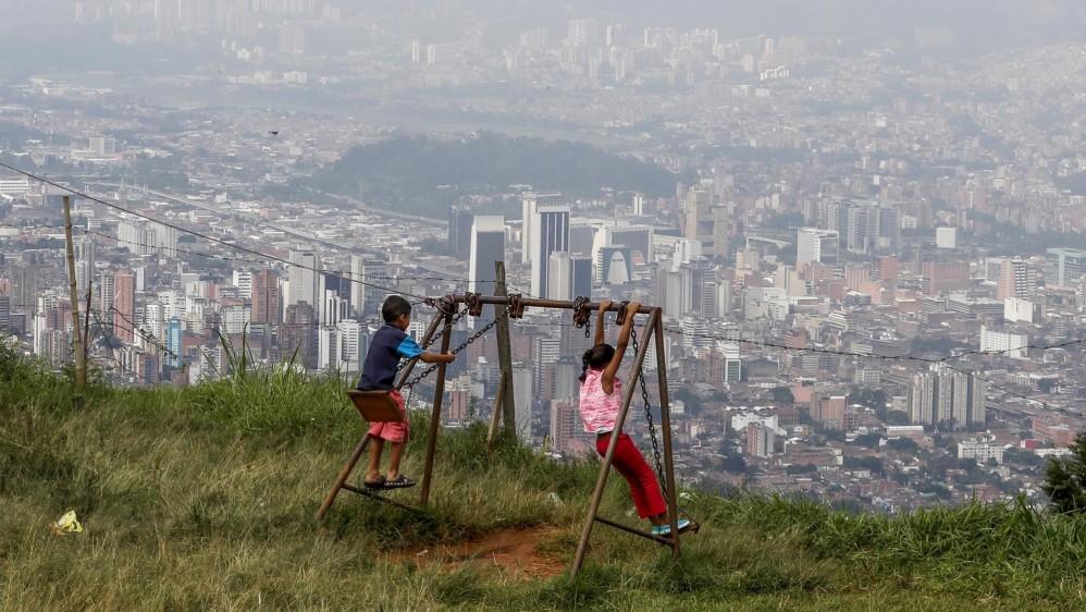Vista de la ciudad de Medellín desde el Bello Oriente de Medellín. Foto: Manuel Saldarriaga
