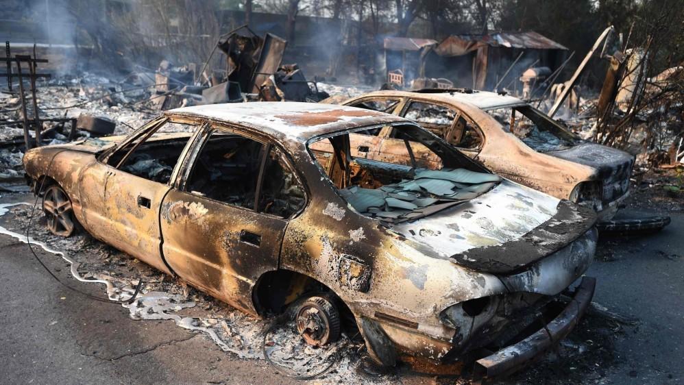 Fue en el condado de Napa donde, durante la madrugada, se registraron tres grandes incendios y varios de menor envergadura. FOTO AFP
