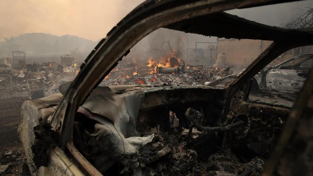 El peor incendio en la historia reciente de California fue en Cedar, en el condado de San Diego en 2003, que destruyó más de 2.800 hogares. FOTO EFE
