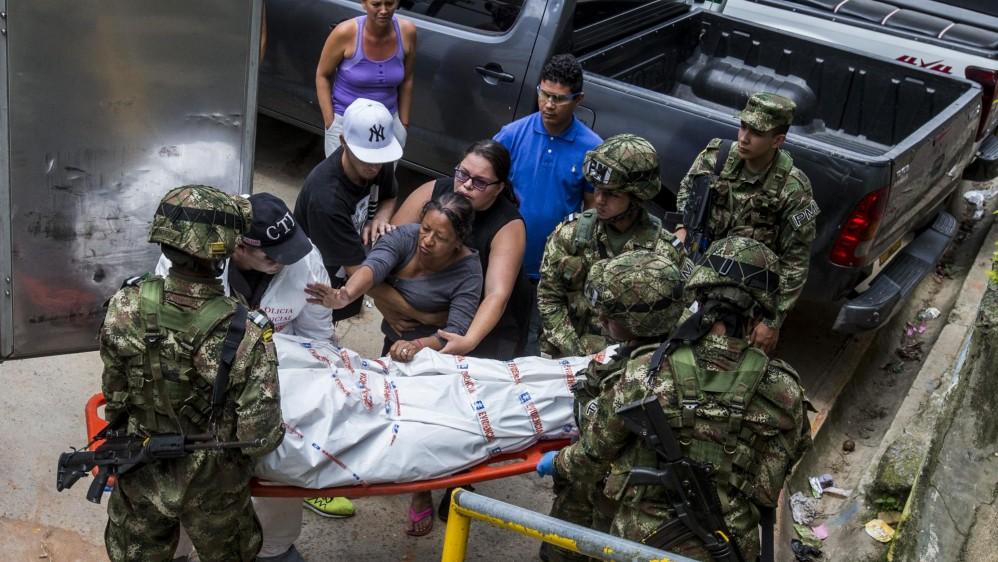 Homicidio en Altavista en el barrio el Concejo, sector la Lagrima. Foto: Jaime Pérez Munévar.