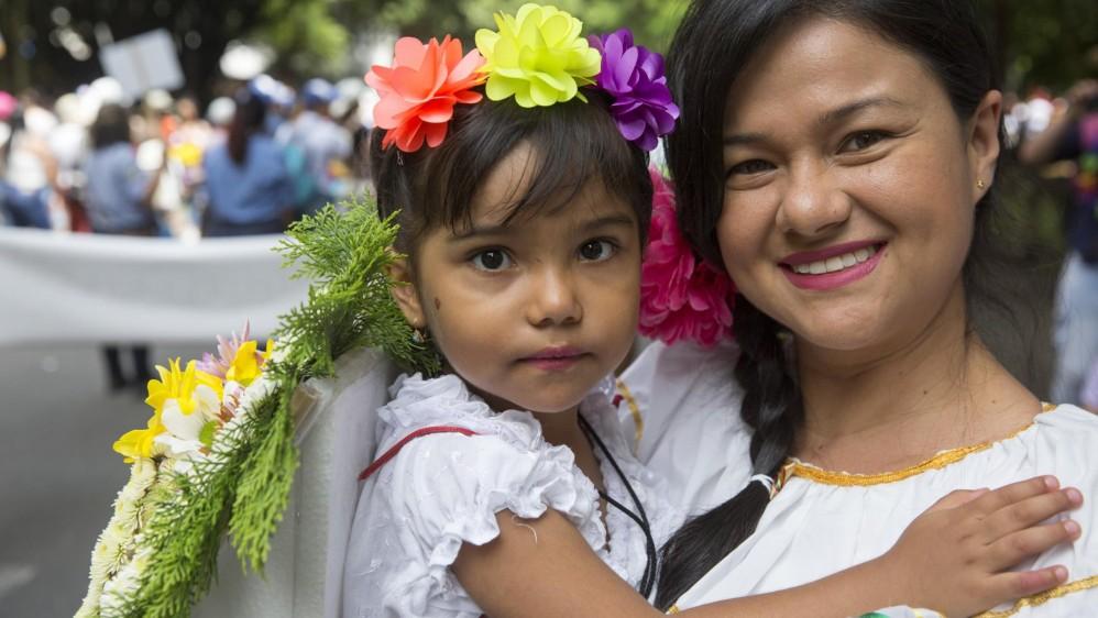 Los niños recorrieron cerca de un kilómetro llenando de alegría sus calles en esta celebración, desfile que llega a versión número 31. Foto: EDWIN BUSTAMANTE