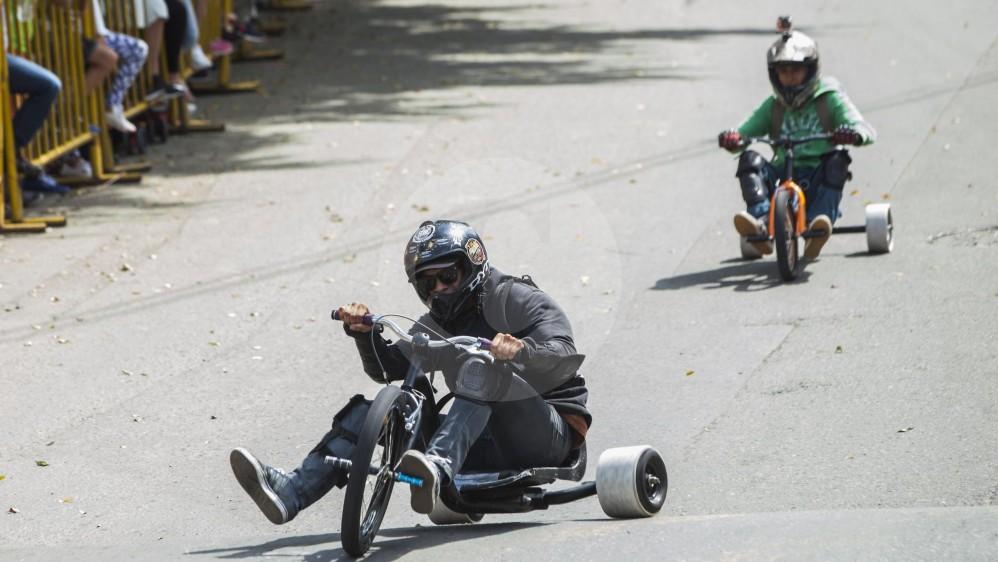 Este domingo se realizó la edición 28 del Festival de Carros de Rodillos. FOTO CARLOS VELÁSQUEZ