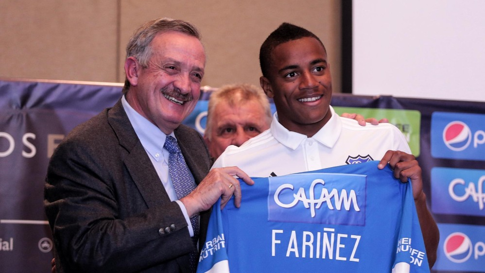 Wuilker Faríñez: Portero de apenas 19 años y titular de la Selección venezolana. Desde los 14 jugó en el primer equipo del Caracas. Ahora llega a Millonarios. FOTO COLPRENSA