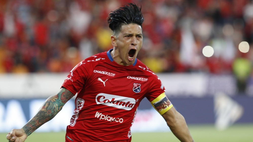 Germán Cano llegó a 13 anotaciones y es el goleador de la Liga Águila II. FOTO: MANUEL SALDARRIAGA