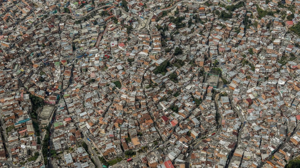 Vista aérea de la Comuna 13 de Medellín. Foto: Róbinson Sáenz.