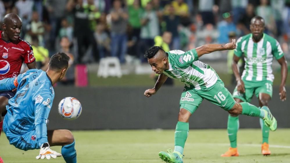 Vladimir Hernández anotó el segundo gol para ratificar el triunfo del verde. Foto: Róbinson Sáenz