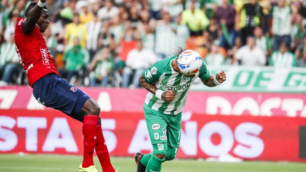 Indiscutible la actuación del goleador Dayro Moreno que a los 27 minutos anotó el primer tanto para el verde. Foto: Róbinson Sáenz