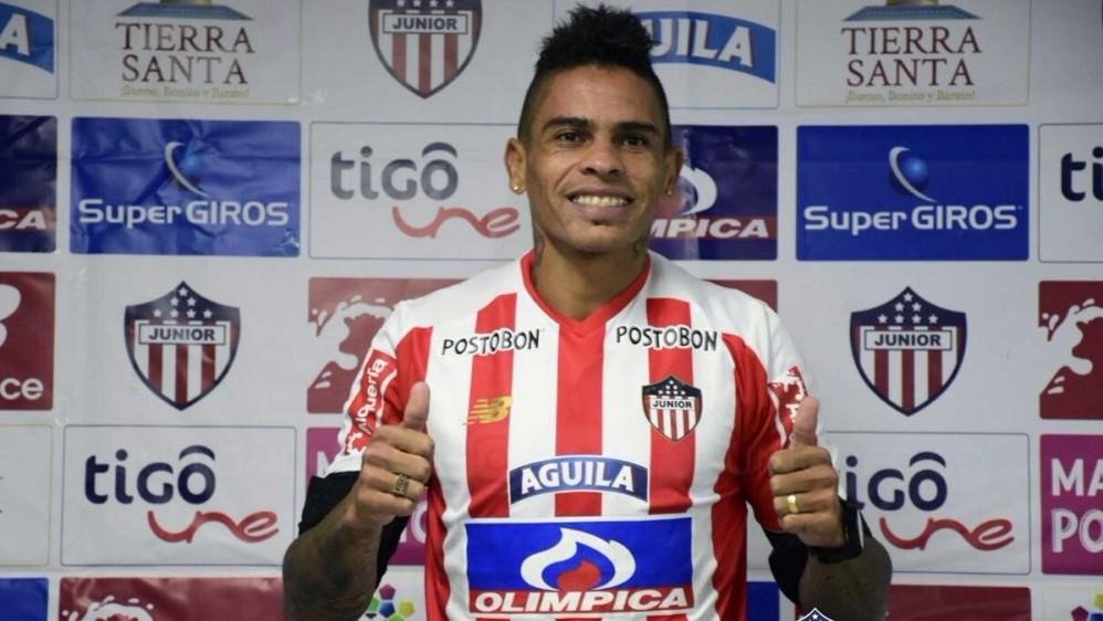 Jonathan Álvez: Delantero uruguayo de 29 años, que fue nominado a mejor jugador de la Copa Libertadores 2017 con Barcelona de Ecuador. Llega al Junior. FOTO CORTESÍA JUNIOR