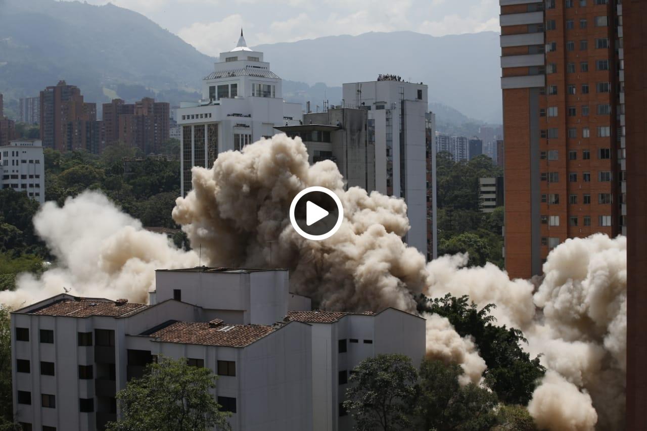 El video de la caída del Mónaco en Medellín