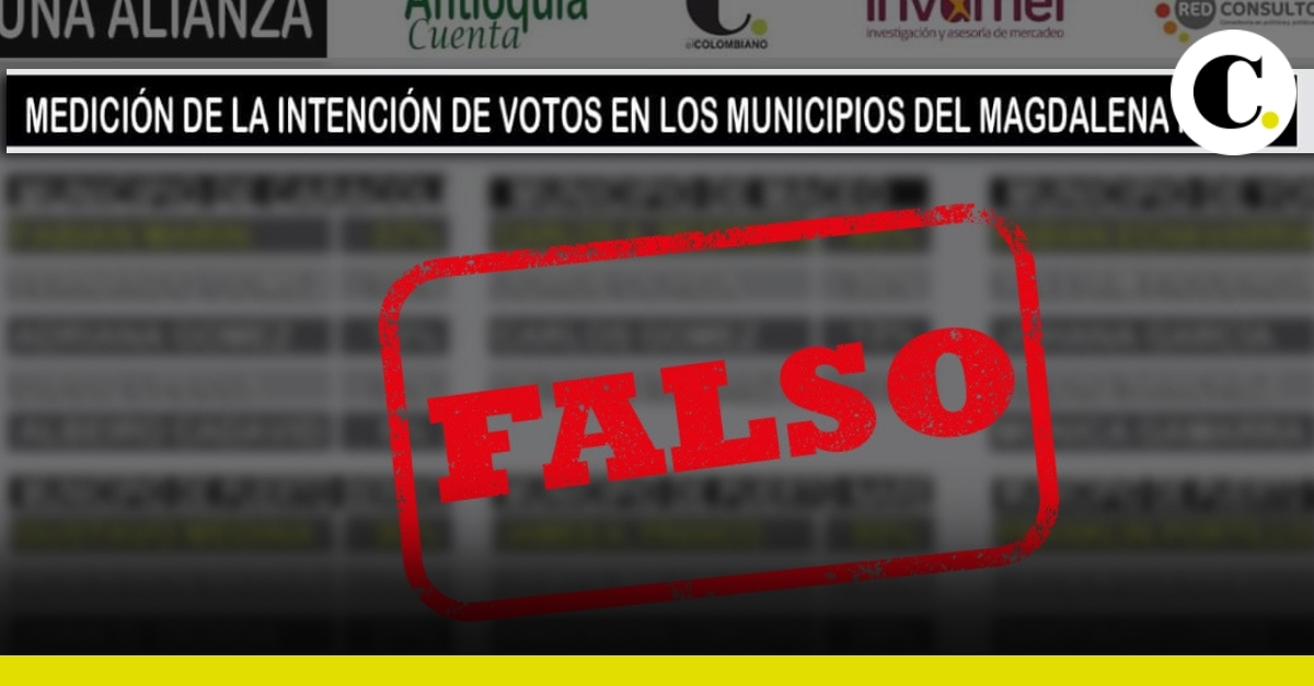 Falsa encuesta de candidatos a la alcaldía del Magdalena Medio, Antioquia